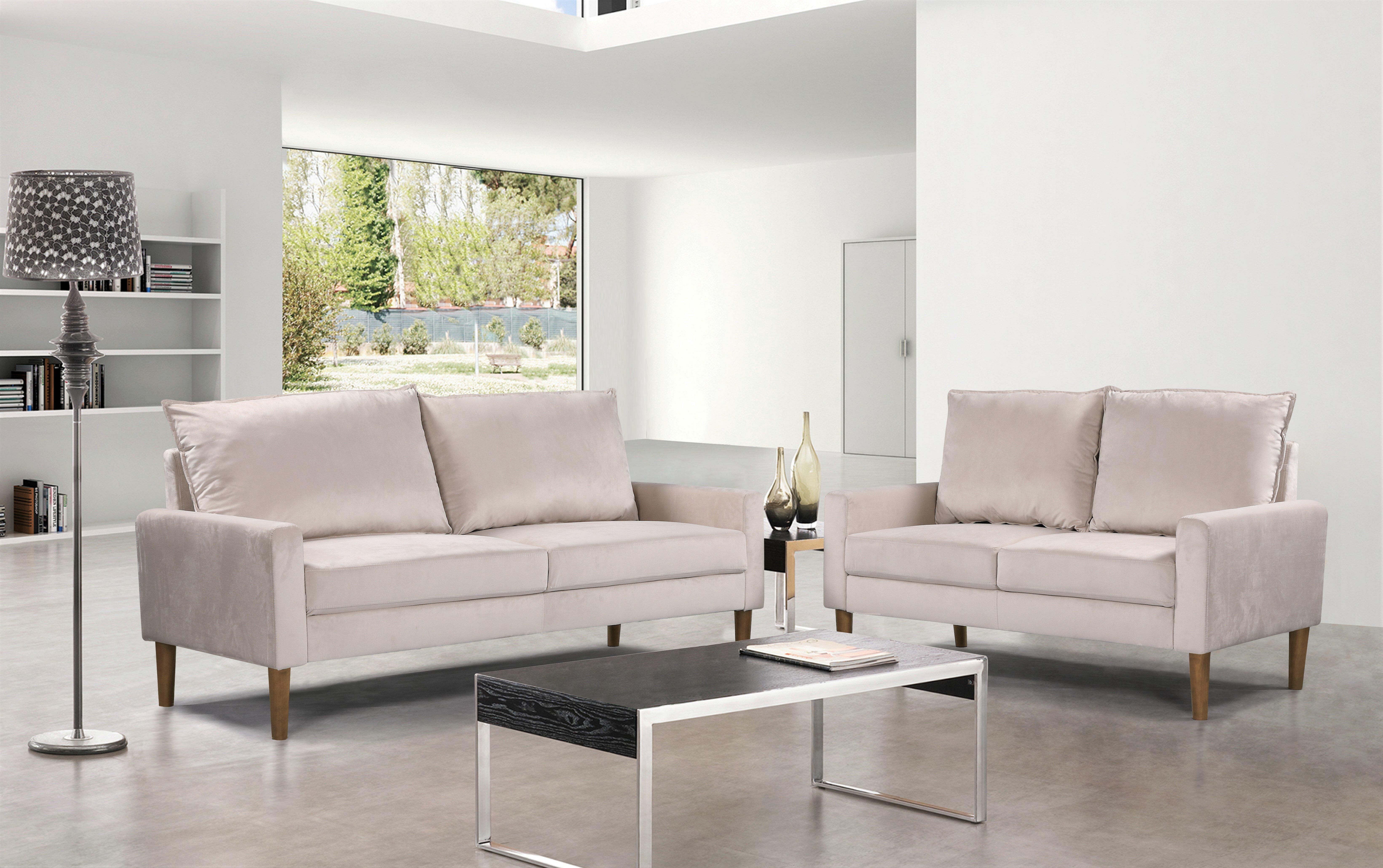 Mercer41 Uhrichsville 2 Piece Living Room Set Reviews Wayfair