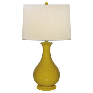 Safari Sun Vennetia Plaster Porcelain 25 Table Lamp