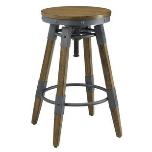 17 Stories Melvin Adjustable Height Bar Stool (Set of 2)
