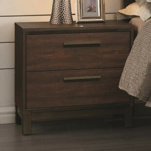 Nabors Wooden 2 Drawer Nightstand by Orren Ellis