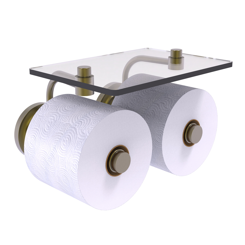 Classic Chrome Brass Wall Mounted Bathroom Toilet Paper Holder Roll Tissue Shelf