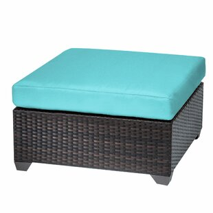 TK Classics Belle Ottoman with Cushion