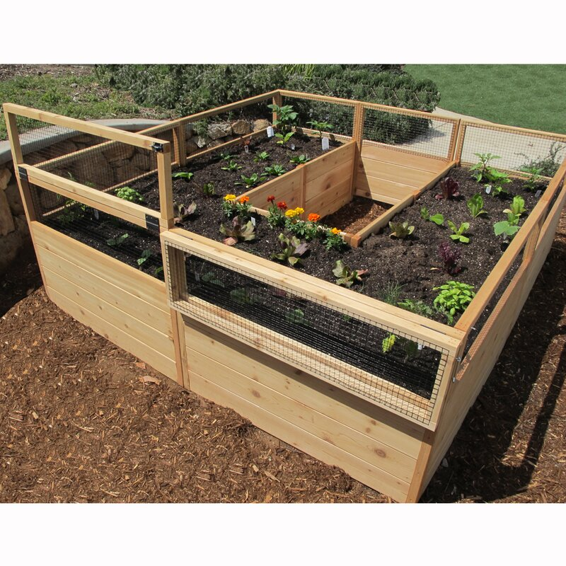 Outdoor Living Today 8 Ft X 8 Ft Wood Raised Garden Bed
