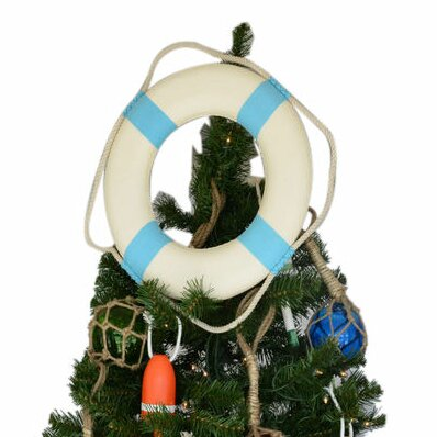 White Lifering Christmas Tree Topper Decoration