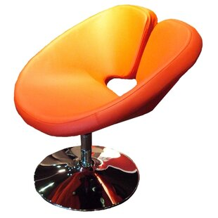 Orren Ellis Ingle Occasional Swivel Papasan Chair