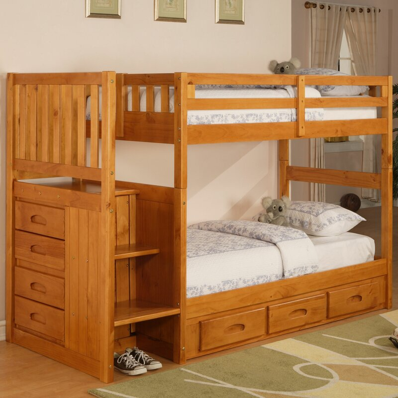 Viv Rae Trumble Twin Over Twin Bunk Bed With Drawers Reviews