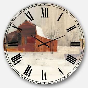 Ophelia Co Oversized Easterwood Metal Wall Clock Reviews Wayfair Ca