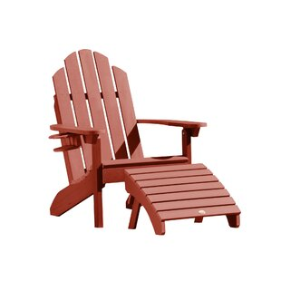 Alcott Hill Highpoint Plastic Adirondack Chair with Ottoman