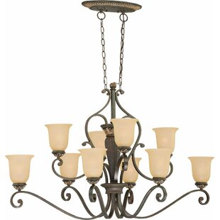 Volume Lighting Bristol 10-Light Shaded Chandelier