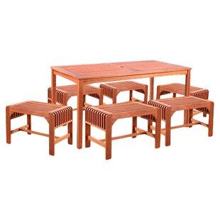 Vifah 7 Piece Dining Set