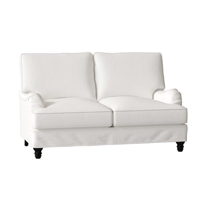 Cool Montgomery Slipcovered Loveseat Creativecarmelina Interior Chair Design Creativecarmelinacom