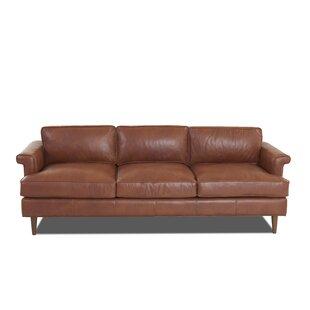 Carson Leather Sofa By Wayfair Custom Upholstery™