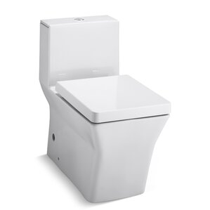 most comfortable toilet seat. R ve Comfort Height Skirted One Piece Elongated Dual Flush Toilet with Top  Actuator Modern Toilets Shop for a AllModern