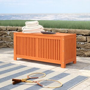 Beachcrest Home Simon Eucalyptus Deck Box