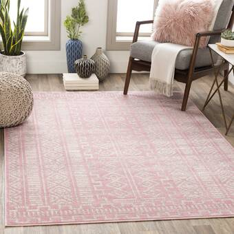 Highland Dunes Forbes Washy Watercolor Stripe Ivory Pink Area Rug Wayfair