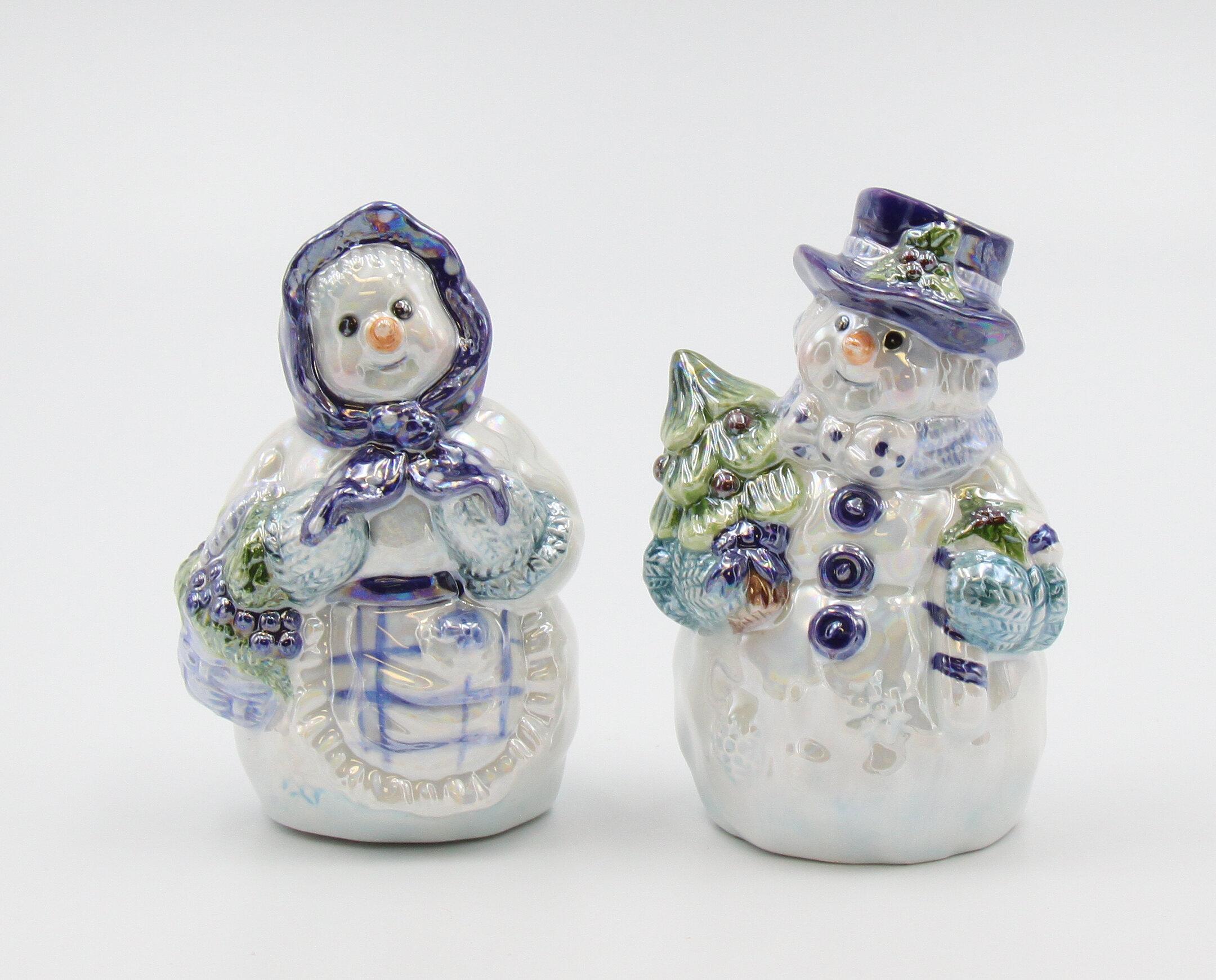 Cosmosgifts Cosmos Gifts Snowman Couple Salt Pepper Shaker Set Wayfair