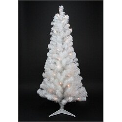 4 White Artificial Christmas Tree With 100 Clear Lights