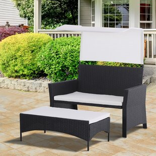 Kluesner 2 Piece Rattan Seating Group with Cushions