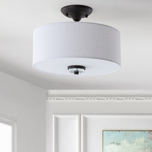 Winterton 2-Light Semi Flush Mount by Wrought Studio