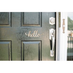 Hello Script Wood Sign Wall Decor by Woodums