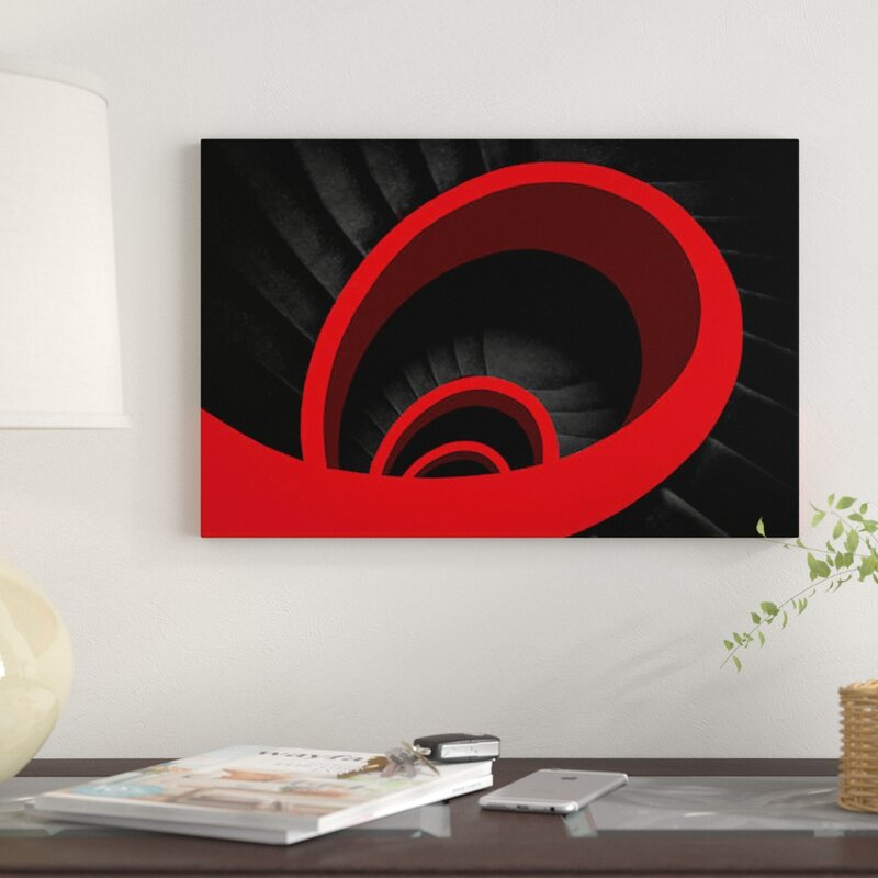 East Urban Home A Red Spiral By Inge Schuster Graphic Art Print On Wrapped Canvas Wayfair