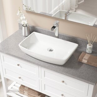 Find the perfect Vitreous China Rectangular Vessel Bathroom Sink with Faucet By MR Direct