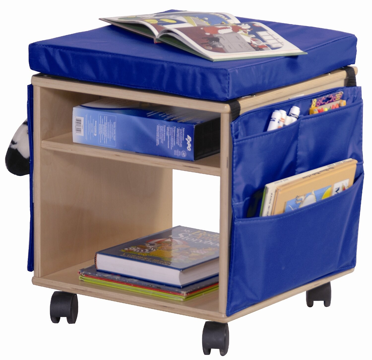 Angeles Double Sided 2 Compartment Teaching Cart With