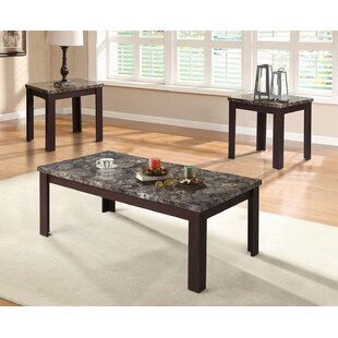 Carly 3 Piece Coffee Table Set A&J Homes Studio