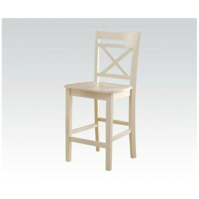 White Cane Outdoor Furniture, Millwood Pines Raquel Counter Height Solid Wood Dining Chair Wayfair