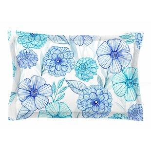 Julia Grifol 'Sweet Blue Garden' Watercolor Sham