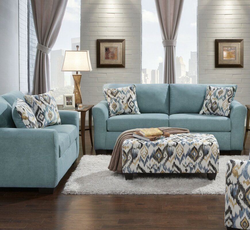 World Menagerie Easthampton 2 Piece Living Room Set Reviews