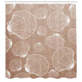 Brayden Studio Kaylynn Fish Bone Skeleton Spine Single Shower Curtain Wayfair