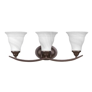 Compare prices Huff 3-Light Vanity Light By Winston Porter