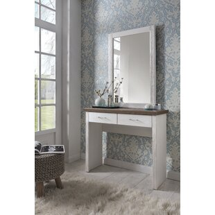 Eliza Dressing Table With Mirror By August Grove