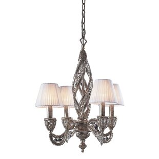 Jaidan 4-Light Shaded Chandelier by Rosdorf Park