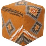 Aahana 18 Square Ikat Pouf Ottoman by Bungalow Rose