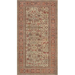 One-of-a-Kind Sultanabad Handwoven Wool Beige/Brown Indoor Area Rug By Mansour