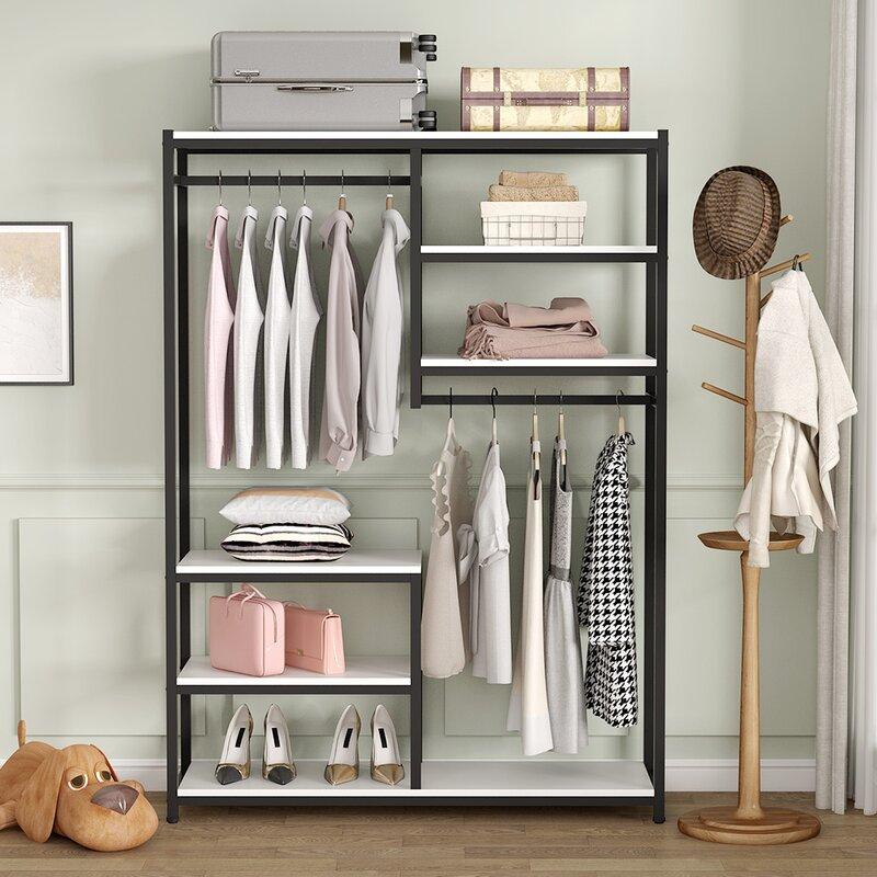 Rebrilliant Lovern 47 24 W Free Standing Clothes Garment Racks Wayfair