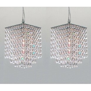 Borrego 1-Light Crystal Pendant (Set of 2) by Everly Quinn
