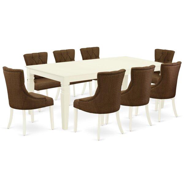 Winston Porter Lelystad 9 Piece Extendable Solid Wood Dining Set Reviews Wayfair