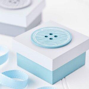 2-tlg. Sortimentskasten Button aus Holz von Cast..