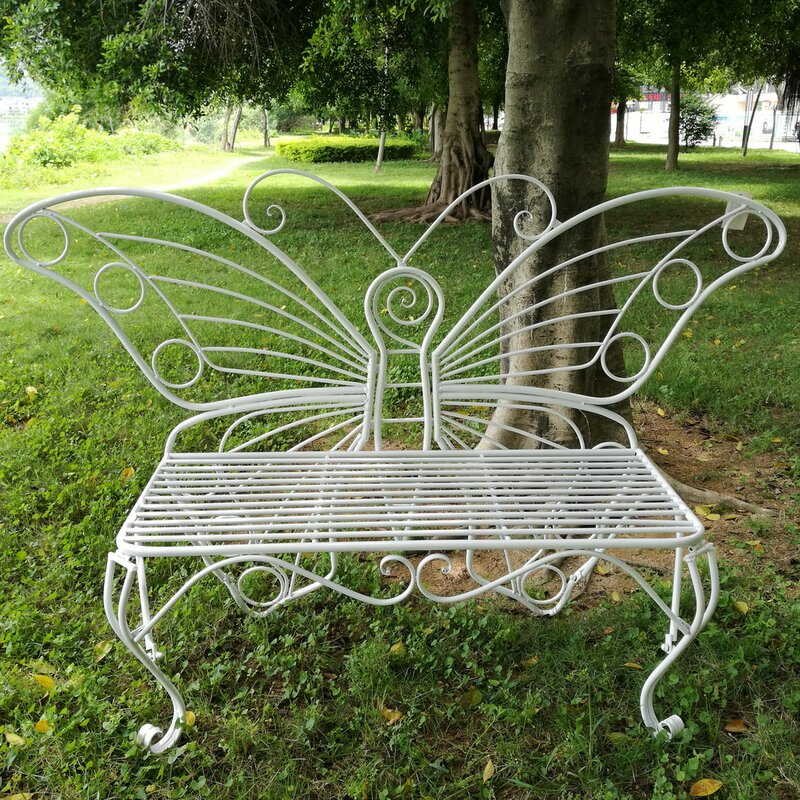 Butterfly Metal Garden Bench
