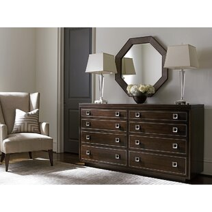 MacArthur Park 8 Drawer Double Dresser with Mirror