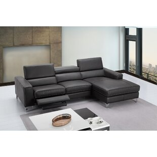 Wade Logan Carrolltown Leather Reclining Sectional