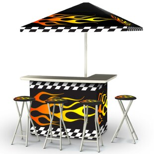 Racing Flames 8 Piece Bar Set