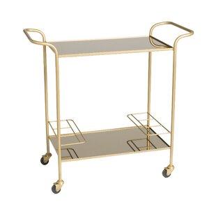 Everly Quinn Lacasse Retro Trolley Bar Cart