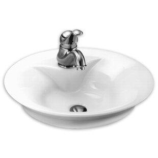 Ceramic Circular Vessel Bathroom Sink with Overflow ByAmerican Standard