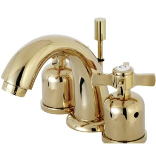 Kingston Brass Millennium Widespread faucet Bathroom Faucet with Drain Assembly