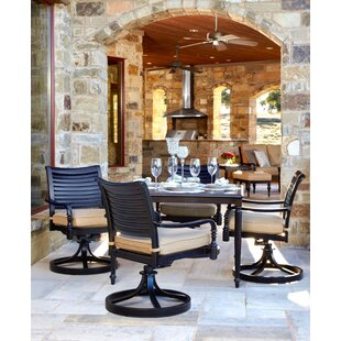 Canora Grey Murdock 5 Piece Sunbrella Dining Set with Cushions