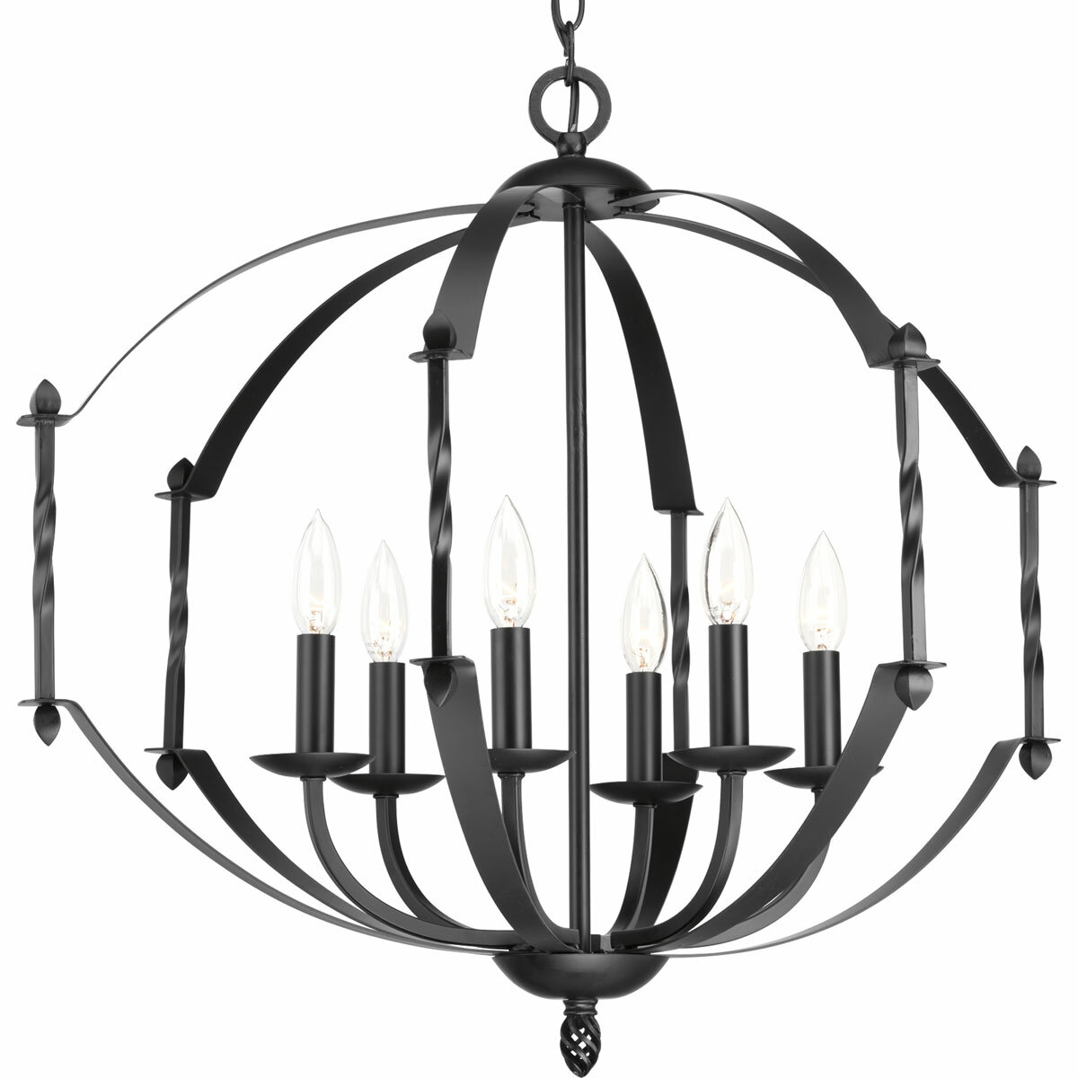 Alcott Hill Mehl 6 Light Candle Style Geometric Chandelier Wayfair